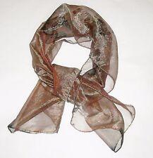 ETRO Made in Italy silk blend scarf sciarpa foulard cangiante misto seta 40x130