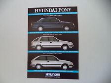 advertising Pubblicità 1988 HYUNDAI PONY