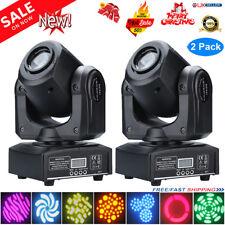 2x 30W RGBW Stage Lighting Spot GOBO LED Moving Head DMX512 Disco DJ Party Light