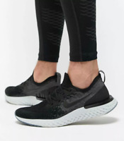 NIKE EPIC REACT FLYKNIT Running Trainers Gym Casual - UK Size 8.5 (EUR 43) Black