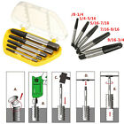 5Pcs Screw Extractor Easy Out Set Drill Bits Guide Broken Damaged Bolt Remover