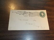 APRIL 1897 NYC NEW YORK CENTRAL AND HUDSON RIVER RAILROAD COMPANY ENVELOPE