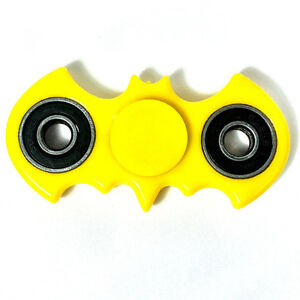 Batman Fidget Hand Spinner Yellow EDC Focus Stress Reliever Toy Kids Adults
