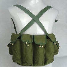 Surplus China 81 Ak47 Rifle Chest Ammo Pouch Bandoleer for Cartridge Ammo Green