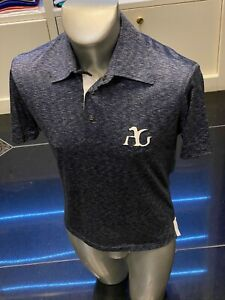 $1195 ANGELO GALASSO polo shirt  exclusive collection silk 100%  size 48 / M