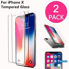 2 Stück Panzerfolie Gorillaglas Schutz Cover Tempered Glass für Apple iPhone X