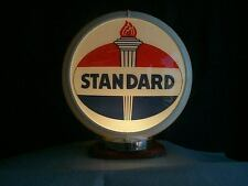 gas pump globe STANDARD & LIGHT STAND NEW reproduction 2 glass faces