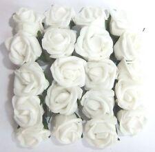 20 x 2,5 cm Poly Schiuma Bianco Rose per Card Making scrapbooking e matrimoni