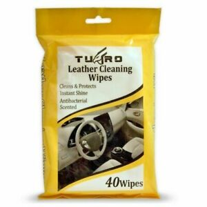 LEATHER CLEANING WIPES SOFA FURNITURE CAR VAN SHOE SURFACE PROTECT CLEAN SHINE