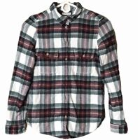 American Eagle Ahhmazingly Soft Classic Fit Flannel Plaid Button Shacket Top