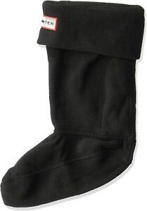 Hunter 175143 Girls Kids Original Fleece Boot Socks Black Size X-Large