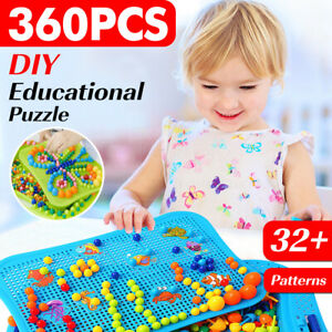 Puzzle Educational Toy Learning Kids Children Picture Pegs Board DIY Toys Gift
