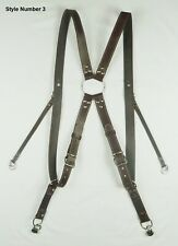 Genuine Real Leather Camera Harness Shoulder Strap Belt, Brown Colour, 3 Styles