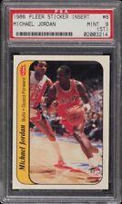 1986 Fleer Sticker Michael Jordan ROOKIE RC #8 PSA 9(st) MINT Chicago Bulls