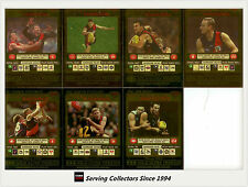2001 Teamcoach Trading Cards Gold Parallel Team Set Essendon (7 )