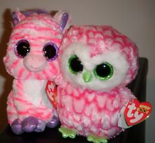 "Ty Beanie Boos ~ Bubbly & Zazzy 6"" ~ Rare 2013 Exclusives ~ Mint with Mint Tags"