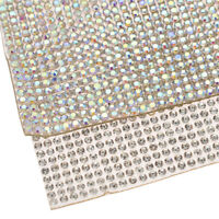 White Self Adhesive Sticker Sheet Diamond Crystal Rhinestones Home Wall Sticker