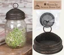 Primitive/Farmhouse/Cottage MASON JAR SCREEN DOME LID - TEXTURED BROWN FINISH