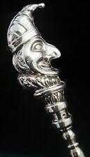 Señor ponche de plata de botón gancho, Birmingham 1908, Sydney & Co