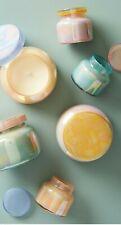 Anthropologie Home Capri Blue Iridescent Mini Jar Candle 4.5oz Set of 3