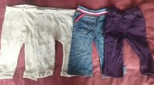 Girls Baby Size 12-18 Months 1-1.5 Years Trousers Jean's Bundle x 4