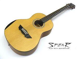 Travel-Guitar / Reise-Gitarre Spear SP 70P, incl. dick gefüttertes Gigbag