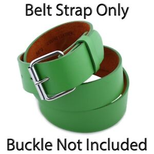 Plain Leather Snap-On Belt Strap Only (No Buckle) Solid Fun Colors Golf Baseball