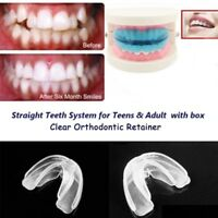 Straight Teeth System Bite Straighten Teeth Dental Orthodontic Retainer clear US