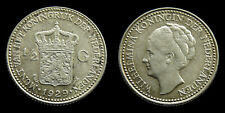Netherlands - 1/2 Gulden 1929 variant b: parels van het diadeem recht onder de G