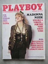 PLAYBOY (US)    9 - 1985   POPSTAR MADONNA + COVER