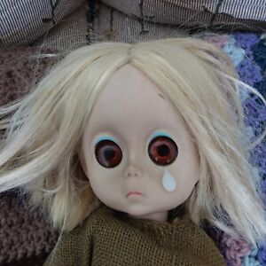 Little Miss No Name With Teardrop. 1965 Hasbro First Edition