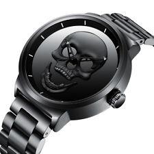 Cool Punk 3D Skull Men Watch Brand Luxury Steel Quartz Male Wristwatch jewelry