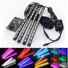 4*12 LED Car Light Interior Atmosphere SUV Floor Strip Lamp Remote Music Control