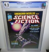 Unknown Worlds of Science Fiction # 3 CGC 9.2 Marvel 1975 Harlan Ellison L Niven
