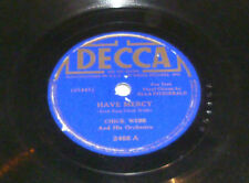 Chick Webb - Have Mercy / I'm Up A Tree - 78rpm Shellac - Decca - 2468