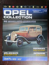 FASCICULE ALLEMAND 15 OPEL COLLECTION P4 1935-1937