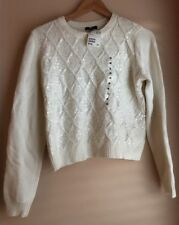 H&M White Sequin Jumper