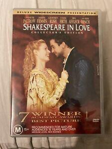 Shakespeare In Love (DVD, 2004) Region 4 - Deluxe Widescreen Presentation