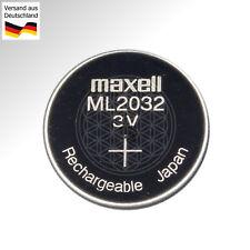 Maxell ML2032 3V ladbare Knopfzelle ersetzt CR2032 BIOS Batterie Rechargeable DL