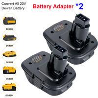 2X DCA1820 Battery Adapter For Dewalt 18 Volt Tools Convert 20V Batteries DCB205