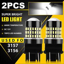 New listing 2pcs 3157 3156 78 Led Reverse Backup Light Bulbs 6000K White 2000Lm Super Bright