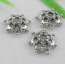 100pcs Tibetan Silver Small holes End Bead Caps 9mm   (Lead-free)