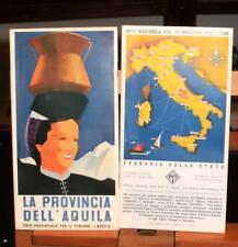 1943 Depliant turistico LA PROVINCIA DELL'AQUILA / Enit