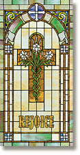 Stained Glass Series Rejoice With Lilies Church Banner