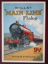 POSTCARD WD & HO WILLS - 'MAIN LINE FLAKE' POSTER R OPIE