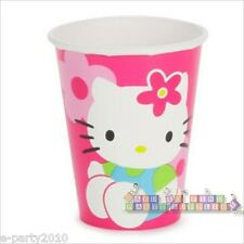 HELLO KITTY Flower Fun 9oz PAPER CUPS (8) ~ Birthday Party Supplies Sanrio Girly