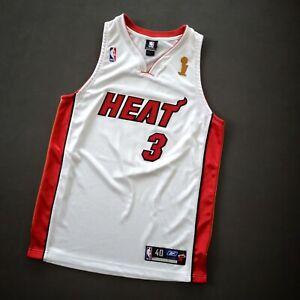 100% Authentic Dwyane Wade Reebok Miami Heat Finals Jersey Size 40 M L Mens