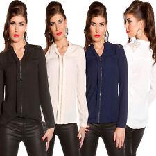 Klassische hüftlange Damenblusen, - tops & -shirts im Blusen aus Polyester