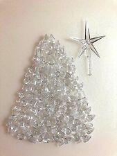 65 Clear Medium Twist Bulbs and 1 Modern Clear Star for Ceramic Christmas Trees