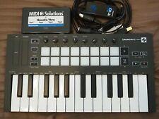 Novation Launchkey Mini mk3 controller + iConnectivity mio USB MIDI interface